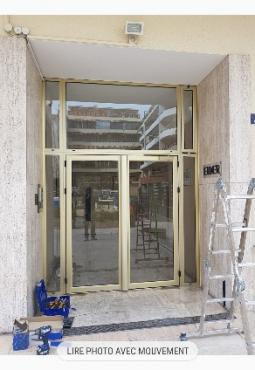 porte entrées immeubles en aluminium sépalumic serie lourde